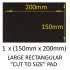 Large 150mm x 200mm Self Adhesive Felt Pad (for you to cut to desired size)