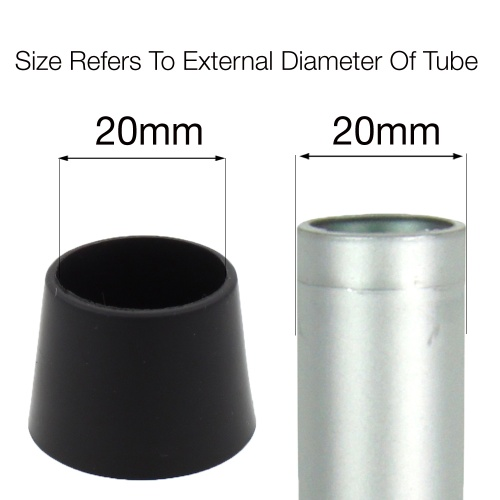 20mm ptfe coated ferrules for chair legs / Tips / Bottoms