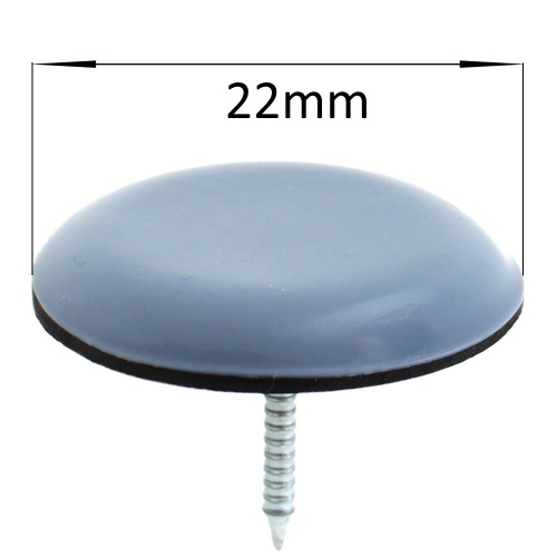 22mm round nail in ptfe coated glides pads for chair legs