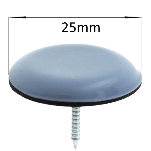 25mm round nail in ptfe coated glides pads for chair legs