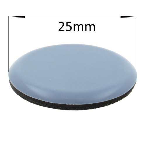 25mm round self adhesive ptfe coated glides / pads