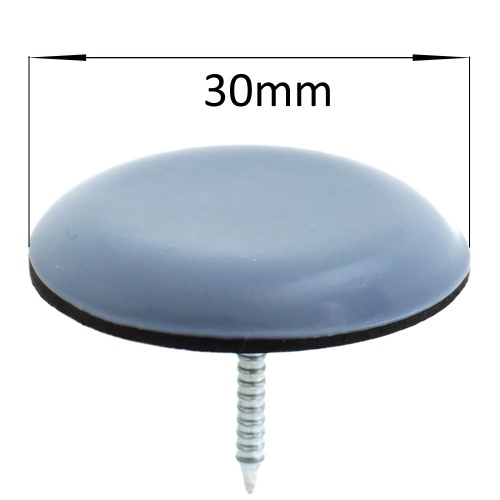 30mm round nail in ptfe teflon glides pads for chair legs