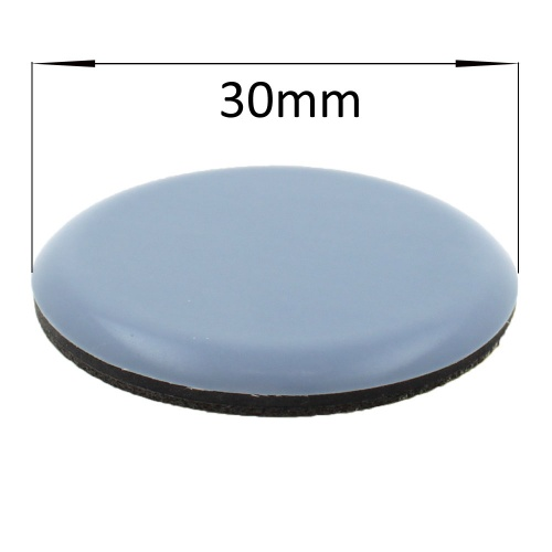 30mm round self adhesive ptfe coated glides / pads