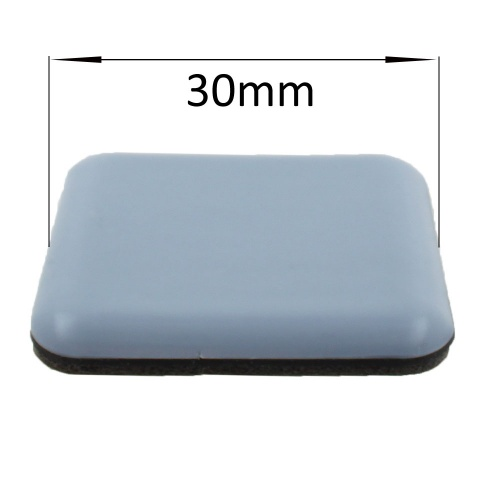 30mm square self adhesive ptfe coated glides / pads