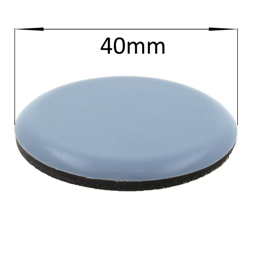 40mm round self adhesive ptfe coated glides / pads