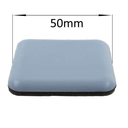 50mm square self adhesive ptfe coated glides / pads