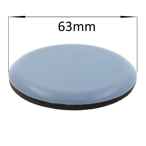 63mm round self adhesive ptfe coated glides / pads