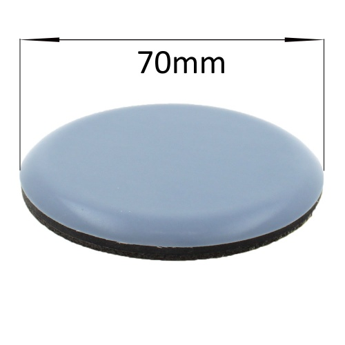 70mm round self adhesive ptfe coated glides / pads