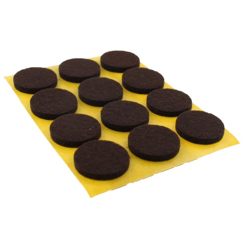 20mm Round Self adhesive Furniture Felt Pads ( 12 pads per sheet )