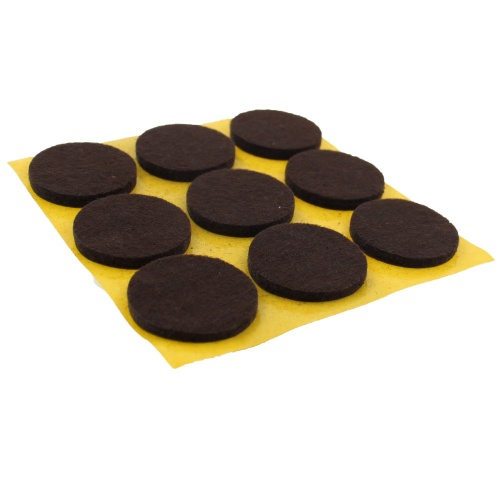 25mm Round Self Adhesive Furniture Felt Pads ( 9 pads per sheet )