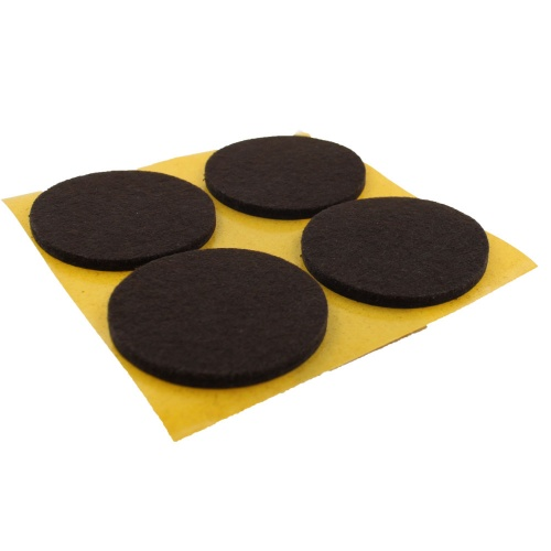 50mm Round Self Adhesive Furniture Felt Pads ( 4 pads per sheet )