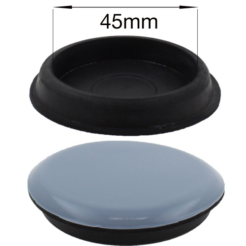 45mm round ptfe coated furniture caster cup