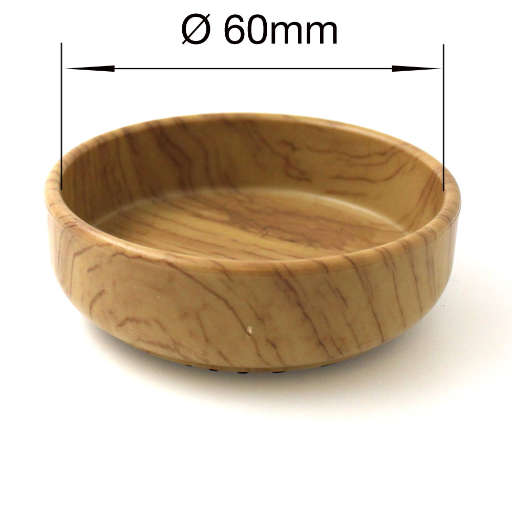 60mm round wood effect rubber furniture Piano non slip caster cup